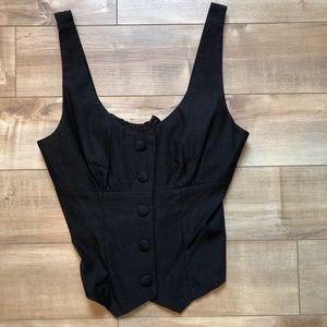 Dressy button front vest